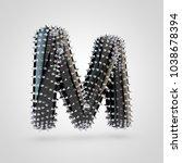 bdsm letter m uppercase. 3d... | Shutterstock . vector #1038678394