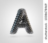 bdsm letter a uppercase. 3d...   Shutterstock . vector #1038678469