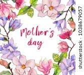 wildflower magnolia flower... | Shutterstock . vector #1038679057