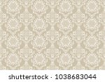seamless floral ornament on... | Shutterstock .eps vector #1038683044