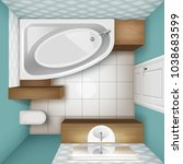vector illustration of bathroom ... | Shutterstock .eps vector #1038683599