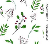 vector seamless floral pattern. ... | Shutterstock .eps vector #1038688939