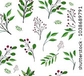 vector seamless floral pattern. ... | Shutterstock .eps vector #1038689791