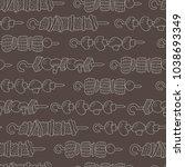 seamless pattern of shish... | Shutterstock .eps vector #1038693349