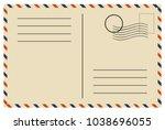 vintage postcard  vector design | Shutterstock .eps vector #1038696055