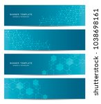 science and technology banners. ... | Shutterstock .eps vector #1038698161