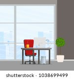 office interior. vector... | Shutterstock .eps vector #1038699499