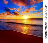 Beautiful Tropical Sunset On...