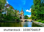 castle river bridge landscape | Shutterstock . vector #1038706819