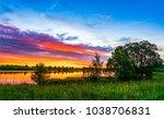 Sunset Rural River Summer...