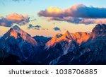 Mountain Peaks Sunset Landscape