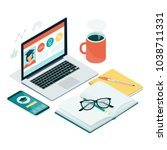 learning  education and... | Shutterstock .eps vector #1038711331