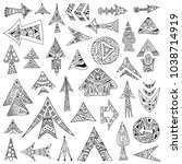 a set of hand drawn vector... | Shutterstock .eps vector #1038714919