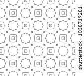 seamless geometric ornamental... | Shutterstock .eps vector #1038719281