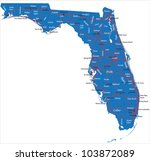 florida map   Shutterstock .eps vector #103872089