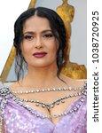 salma hayek at the 90th annual... | Shutterstock . vector #1038720925