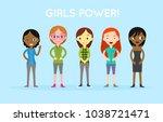 international diverse and... | Shutterstock .eps vector #1038721471
