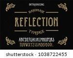 original handmade alphabet....   Shutterstock .eps vector #1038722455