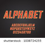 vector of modern bold font and... | Shutterstock .eps vector #1038724255