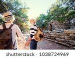 travel and tourism. senior... | Shutterstock . vector #1038724969