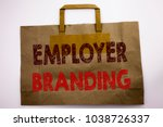 word  writing employer branding.... | Shutterstock . vector #1038726337