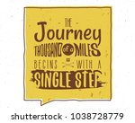 the journey of a thousand miles ... | Shutterstock .eps vector #1038728779