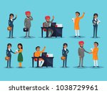 vector illustration with male... | Shutterstock .eps vector #1038729961