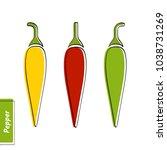 flat design vegetable education ... | Shutterstock .eps vector #1038731269