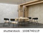 contemporary living room... | Shutterstock . vector #1038740119