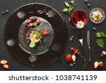 exquisite restaurant mousse... | Shutterstock . vector #1038741139