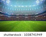 soccer stadium in the night3d... | Shutterstock . vector #1038741949
