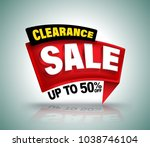 clearance sale banner | Shutterstock .eps vector #1038746104