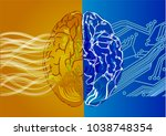 artificial intelligence concept.... | Shutterstock .eps vector #1038748354