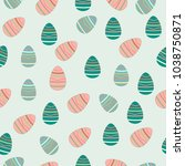 a seamless pattern with... | Shutterstock .eps vector #1038750871
