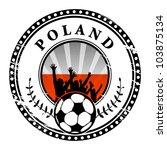grunge stamp with football fans ... | Shutterstock .eps vector #103875134