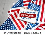 memorial day  holiday | Shutterstock . vector #1038752635