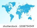 world map vector | Shutterstock .eps vector #1038754549