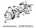 floral decorative ornament.... | Shutterstock .eps vector #1038754651