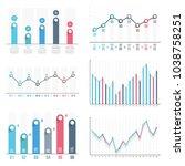 bar graph and line graph... | Shutterstock .eps vector #1038758251
