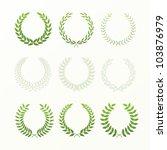 laurel wreaths | Shutterstock .eps vector #103876979
