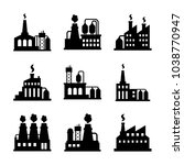 factory icon set | Shutterstock .eps vector #1038770947
