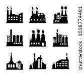 factory icon set | Shutterstock .eps vector #1038774481
