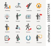 business and people icons set | Shutterstock .eps vector #1038777244