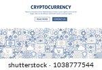 cryptocurrency banner design....   Shutterstock .eps vector #1038777544