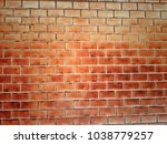 Orange Brick Wall. Vintage...