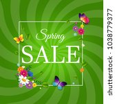 spring sale poster with...   Shutterstock .eps vector #1038779377