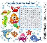 word search puzzle. vector... | Shutterstock .eps vector #1038779719