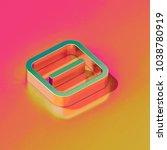 bronze minus in square icon on... | Shutterstock . vector #1038780919