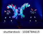 laser show performance  dancers ...   Shutterstock . vector #1038784615