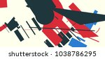 an abstract composition... | Shutterstock .eps vector #1038786295